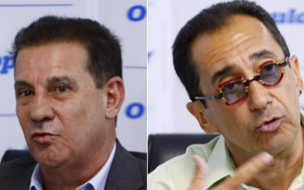 Vanderlan e Jorge Kajuru foram eleitos senadores por Goiás — Foto: Weimer Carvalho/O Popular