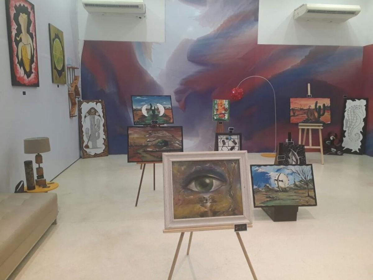 Exposição 'Do Lixo à Arte' é realizada em centro de compras de Caruaru