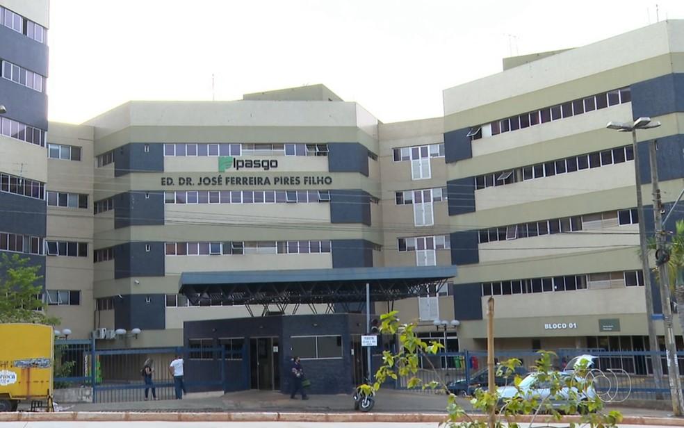 Sede do Ipasgo em Goiânia — Foto: Reprodução/TV Anhanguera