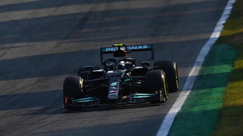 Valtteri Bottas na corrida classificatória do GP da Itália — Foto: Clive Mason - Formula 1/Formula 1 via Getty Images