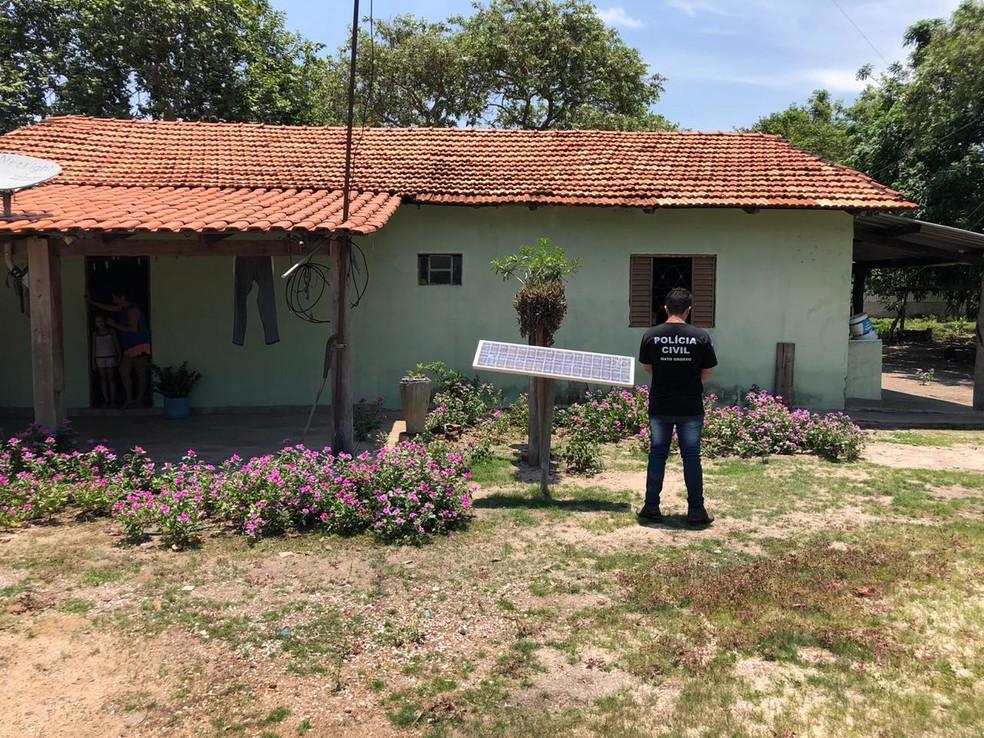 Polícia Civil de Mato Grosso encontrou fazenda onde onças-pintadas teriam sido filmadas mortas em caminhonete — Foto: Polícia Civil de Mato Grosso/Divulgação