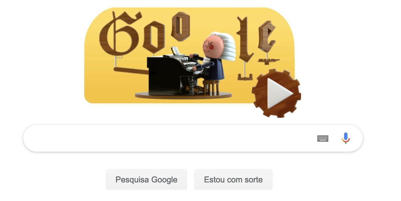 Doodle comemora a vida e a obra de Bach (Foto: Google/ Reprodução)