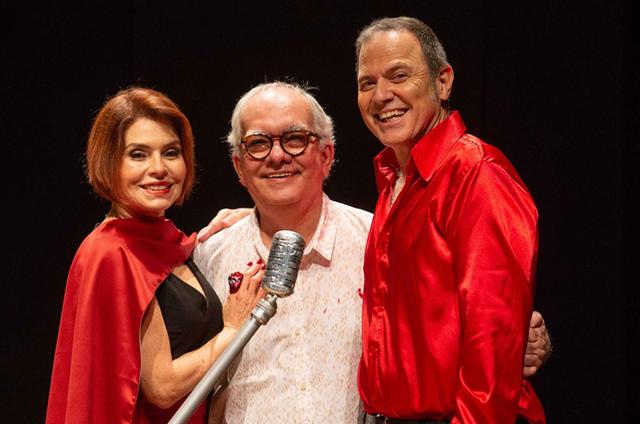 Françoise Forton, Artur Xexéo e Aloísio de Abreu (Foto: Moskow)