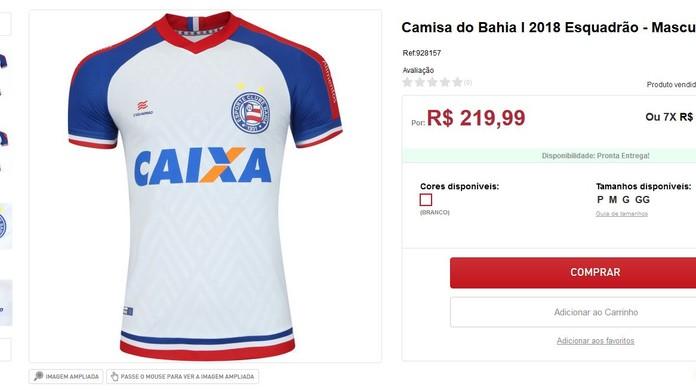 Site de vendas vaza novo uniforme do Bahia  confira  f55aab26c3939