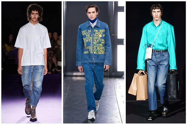 O jeans voltou, mais ponderado e versátil. - À La Garçonne, A.P.C. e Balenciaga. (Foto: divulgação)