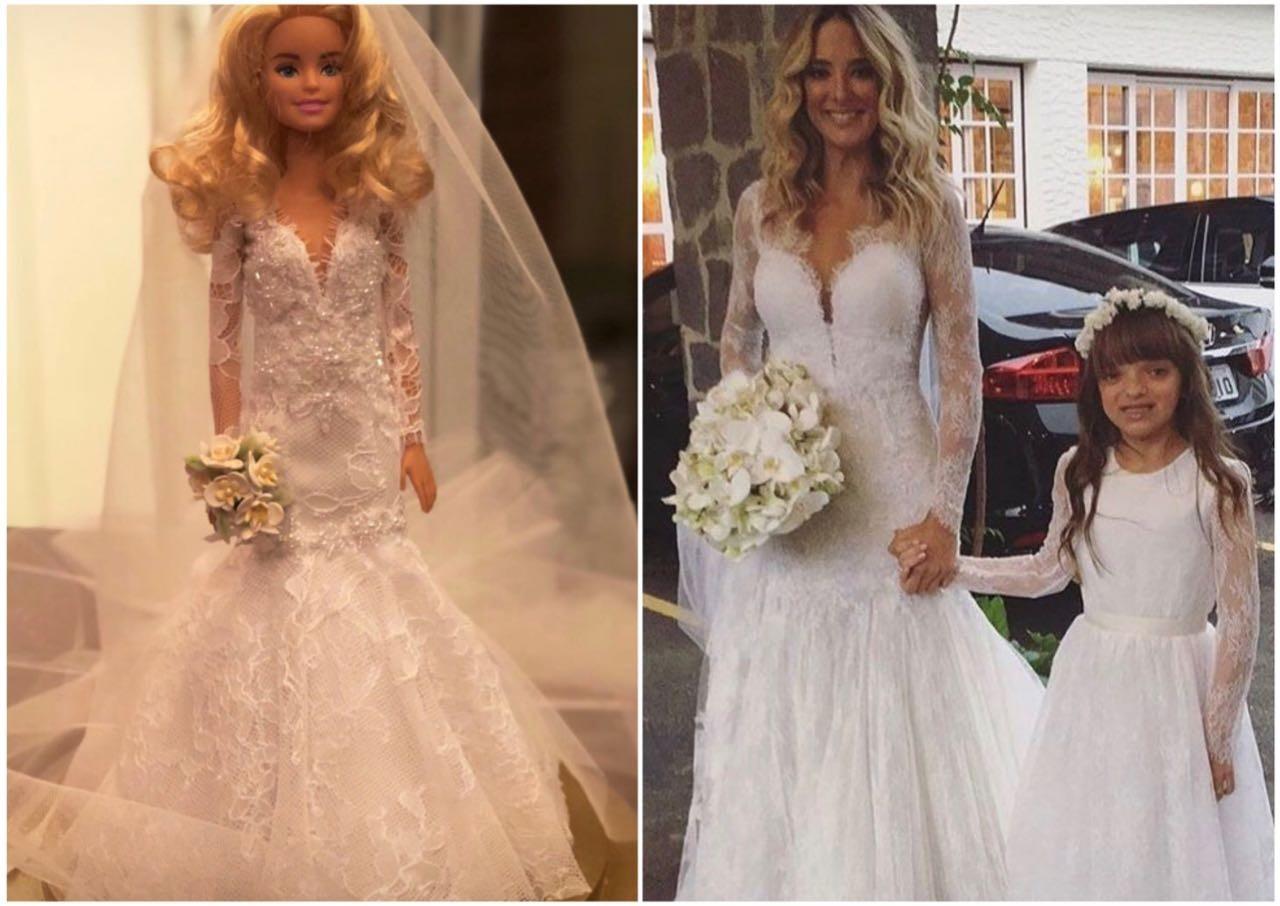 Ticiane ganha barbie com réplica de seu vestido de noiva (Foto: Reprodução/Instagram)