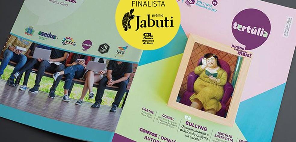 Revista Tertúlia é fruto de projeto desenvolvido pela professora Patrícia Rosas em escola de Queimadas — Foto: Reprodução