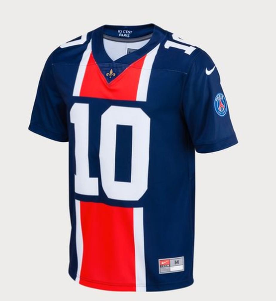 b28bcc1fbfeea ... PSG pega carona no Super Bowl e lança camisa de futebol americano para  Neymar