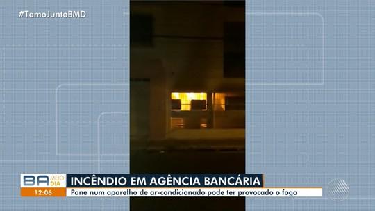 Incêndio atinge agência bancária no sudoeste da Bahia