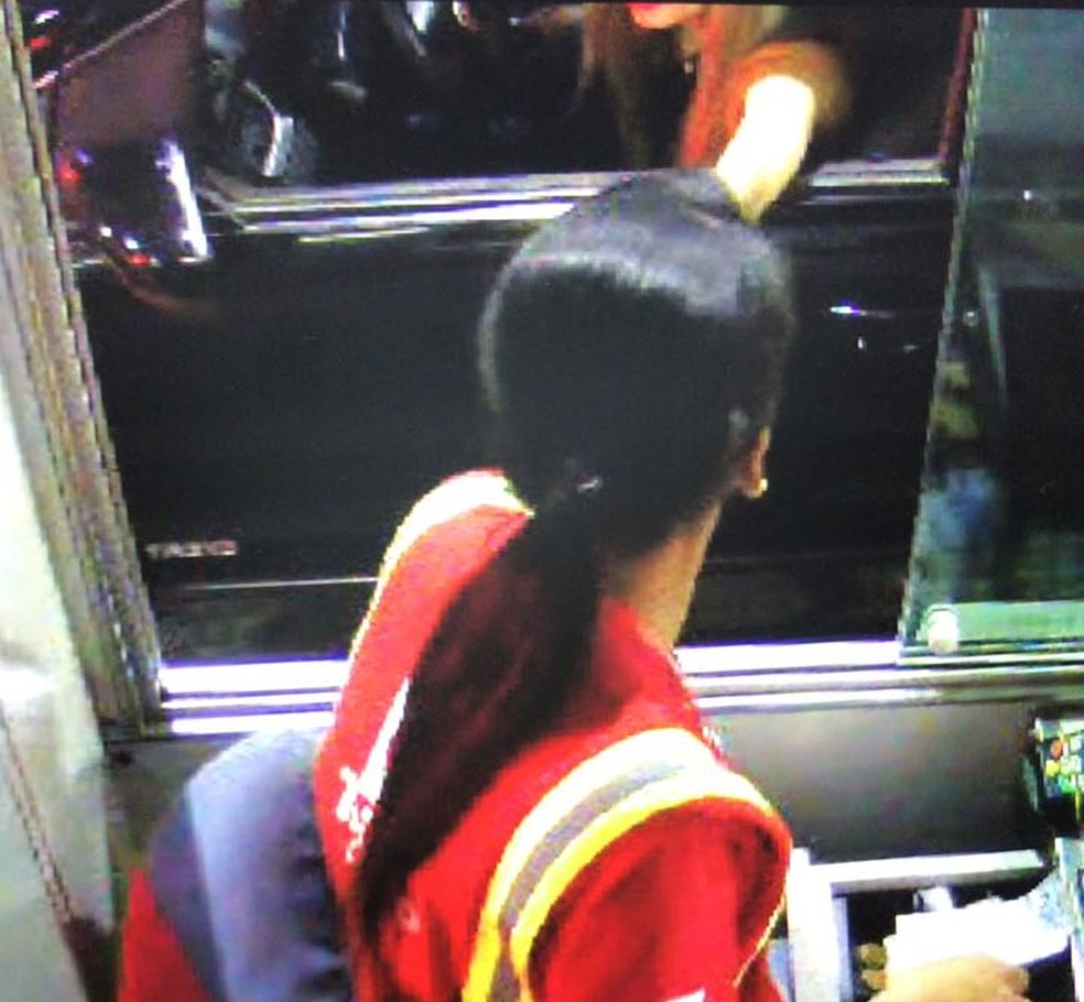Câmera de pedágio flagrou jovem durante a viagem (Foto: Reprodução)