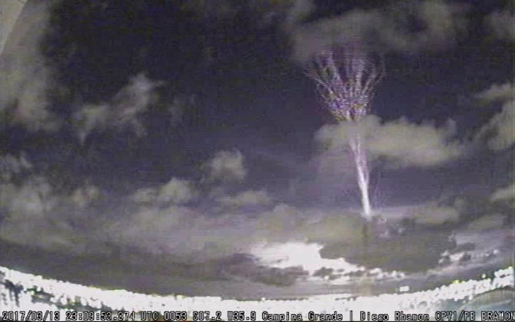 Fenômeno raro foi registrado por aluno de meteorologia de Campina Grande em março deste ano (Foto: Reprodução/Bramon/Diego Rhamon/Arquivo)