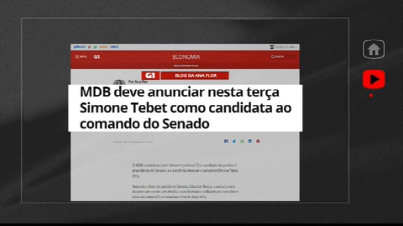 MDB deve anunciar Simone Tebet como candidata ao comando do Senado