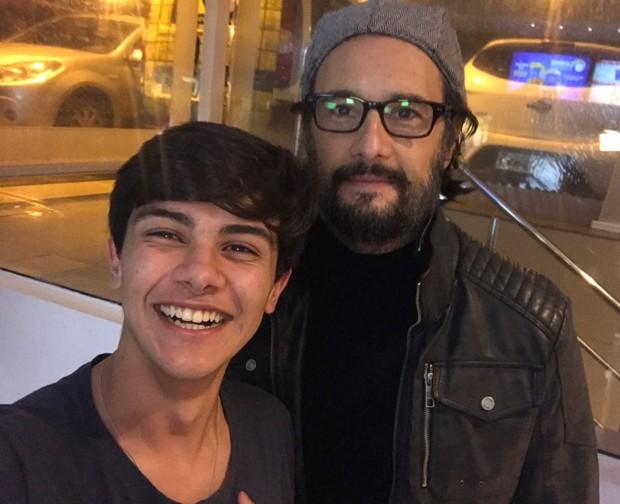 Victor Aguiar e Rodrigo Santoro (Foto: Arquivo pessoal)