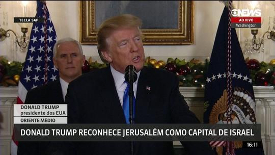 Trump reconhece Jerusalm como capital de Israel e ordena transferncia de embaixada americana