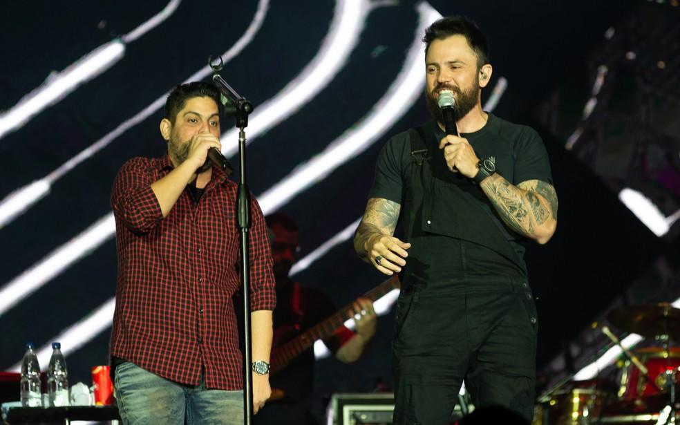 Jorge e  Mateus se apresentam no Norte do estado  — Foto: Érico Andrade / G1