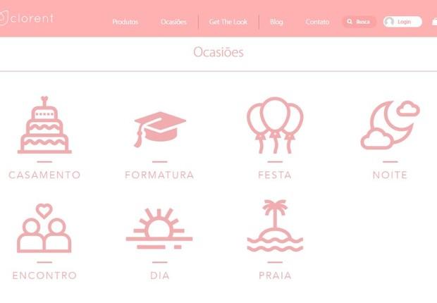 Plataforma do Cloret, um marketplace de aluguel de roupas (Foto: Divulgação)