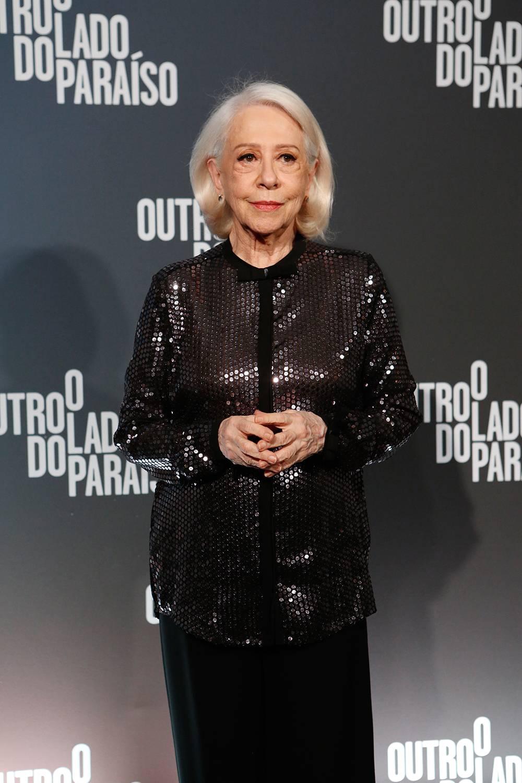 Fernanda Montenegro na festa de lançamento de 'O Outro Lado do Paraíso'