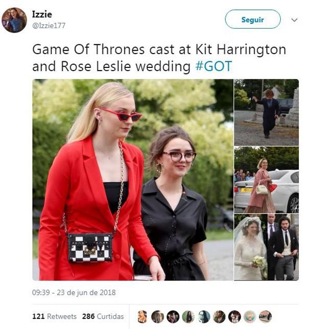 Kit Harington e Rose Leslie (Foto: reprodução)