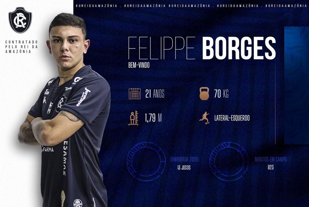 Felippe Borges chega emprestado pelo Juventude — Foto: Divulgação/Remo