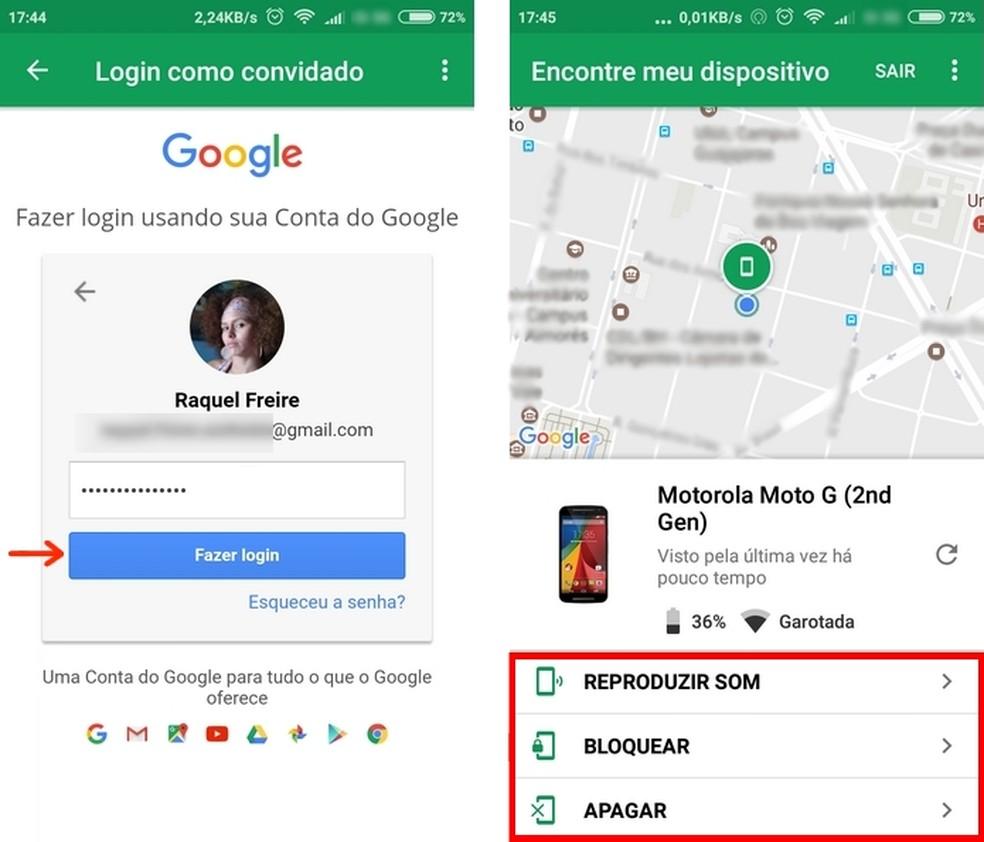 Aplicativo localização celular android