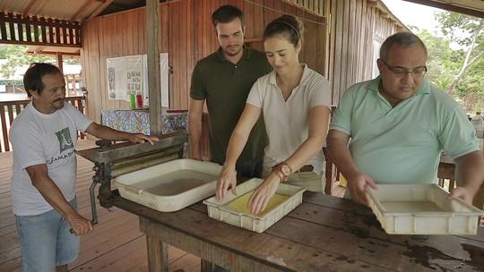 Sobre As Asas mostra a produção de borracha sustentável em Jamaraquá, no Pará