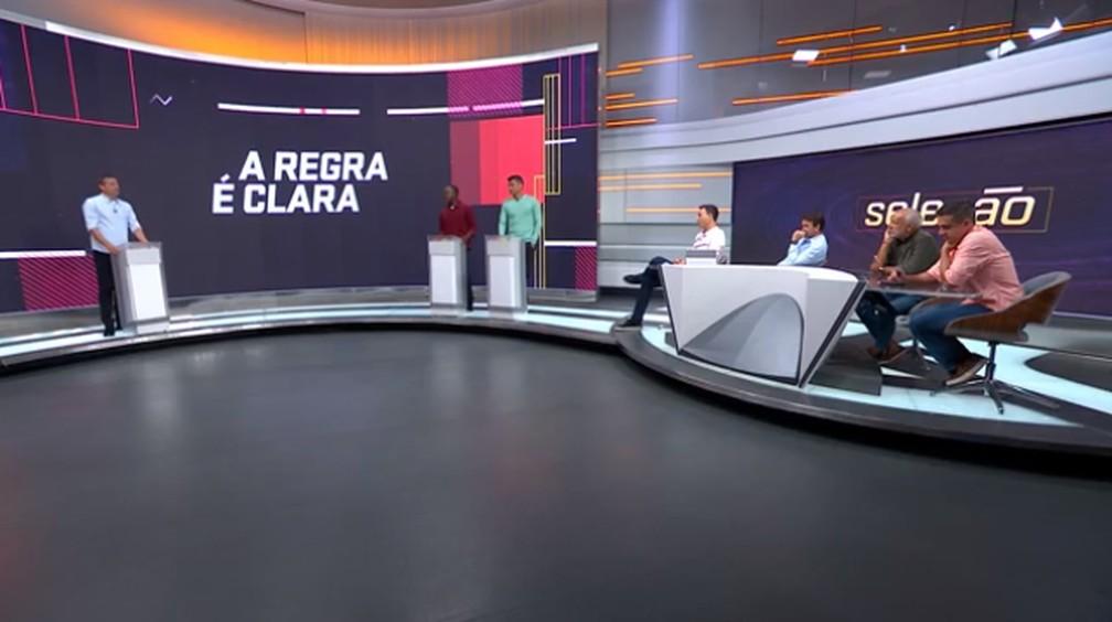 """""""A Regra É Clara"""", quadro do Seleção SporTV — Foto: SporTV"""