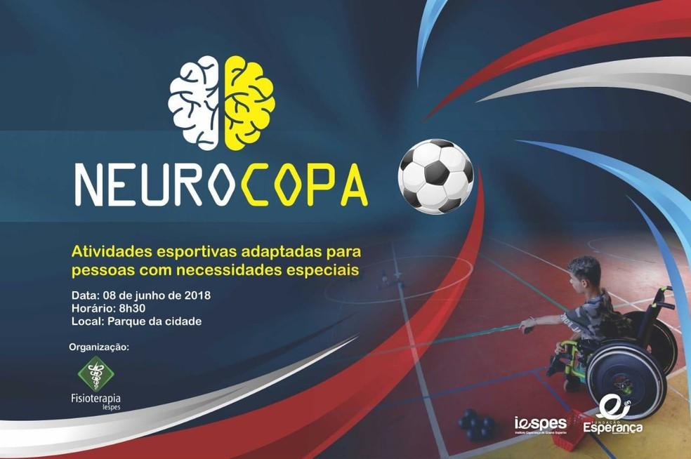 Neurocopa será realizada nesta sexta (8) no Parque da cidade (Foto: Divulgação)
