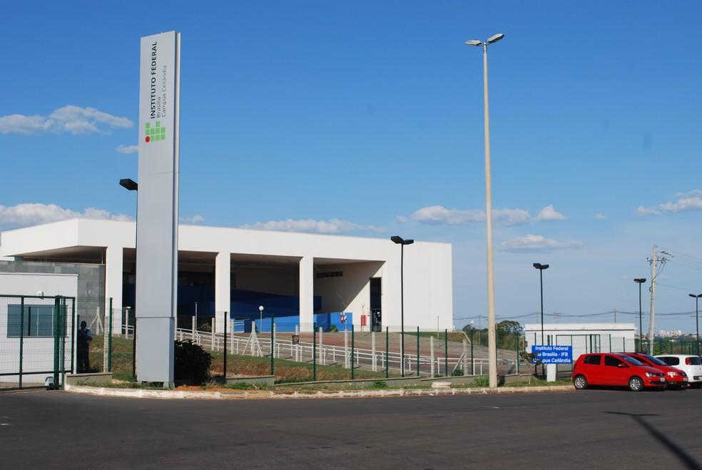 Fachada da entrada do IFB Campus Ceilândia — Foto: Arquivo da comunicação do IFB/Divulgação