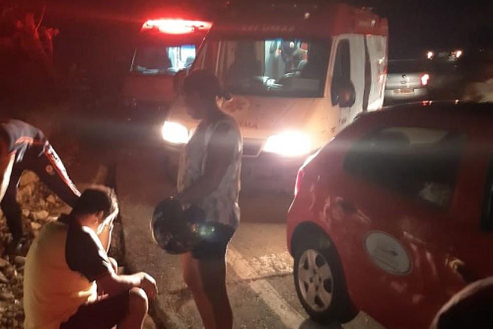 Acidente deixa 7 pessoas feridas em Rio de Contas — Foto: Lay Amorim/Achei Sudoeste