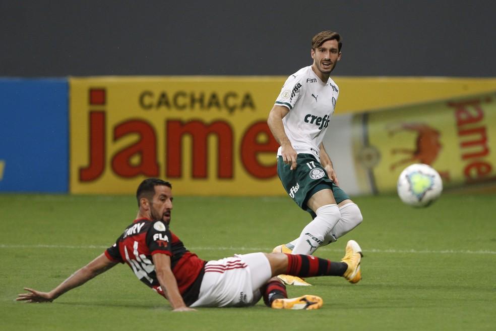 Flamengo x Palmeiras — Foto: ADALBERTO MARQUES/DIA ESPORTIVO/ESTADÃO CONTEÚDO