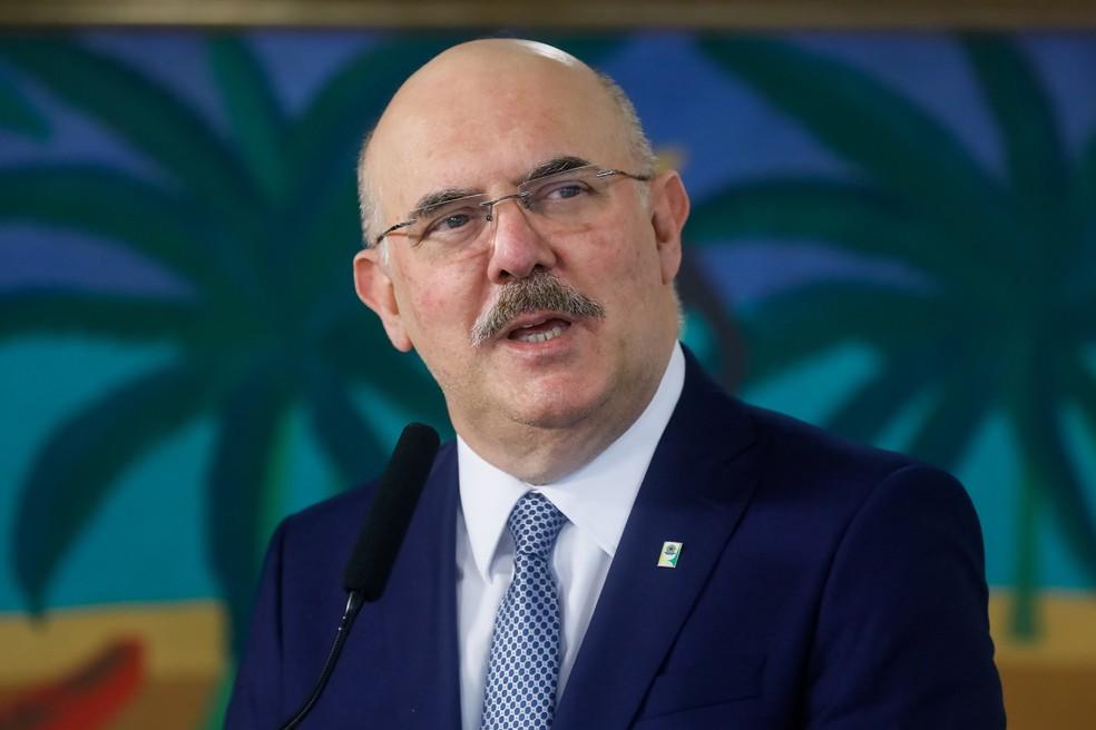 O ministro da Educação, Milton Ribeiro. — Foto: Isac Nóbrega/PR