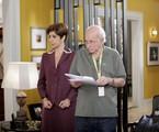 Sandra Pêra é dirigida por Reybaldo Boury em cena de 'Chiquititas' | Lourival Ribeiro/SBT