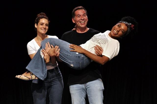 Elisa Pinheiro, Leandro Hassum e Vilma Melo (Foto: Cristina Granato)