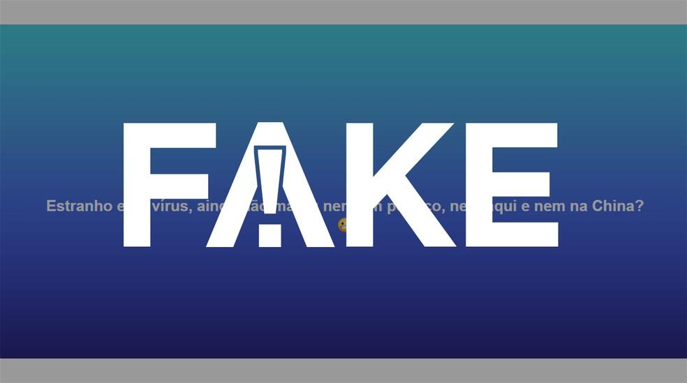 É #FAKE que coronavírus não matou nenhum político 'nem no Brasil nem na China' — Foto: Reprodução