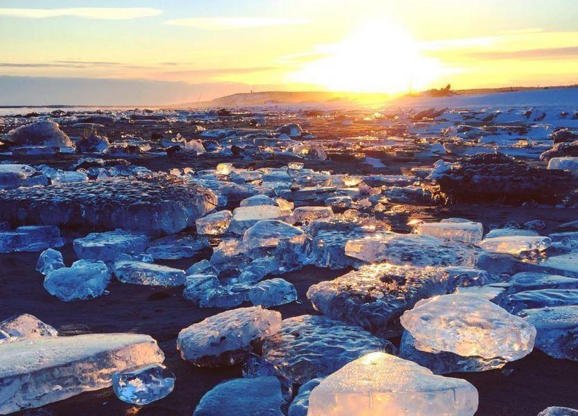 As 'pedras preciosas' em praia de Hokkaido