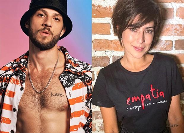 Chay Suede e Fernanda Paes Leme (Foto: Reprodução/ Instagram, GQ Brasil)