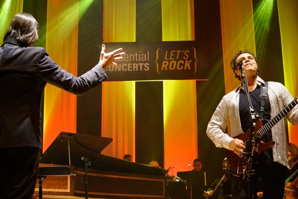 Carlos Prazeres e Frejat se unem em concerto de rock e música clássica — Foto: Prudential Concerts/Divulgação