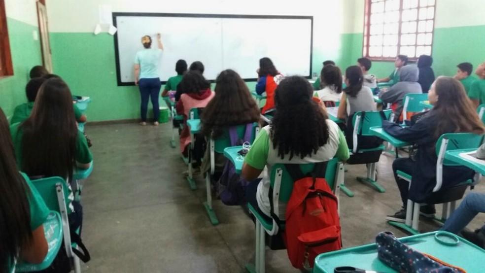 -  Estudantes irão trocar, nos dias dos aulões, as tradicionais sala de aula pelo Teatro das Bacabeiras  Foto: Jorge Abreu/G1