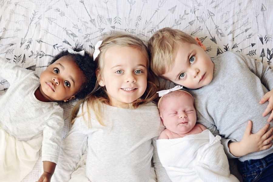 Os quatro filhos (Foto: Reprodução)