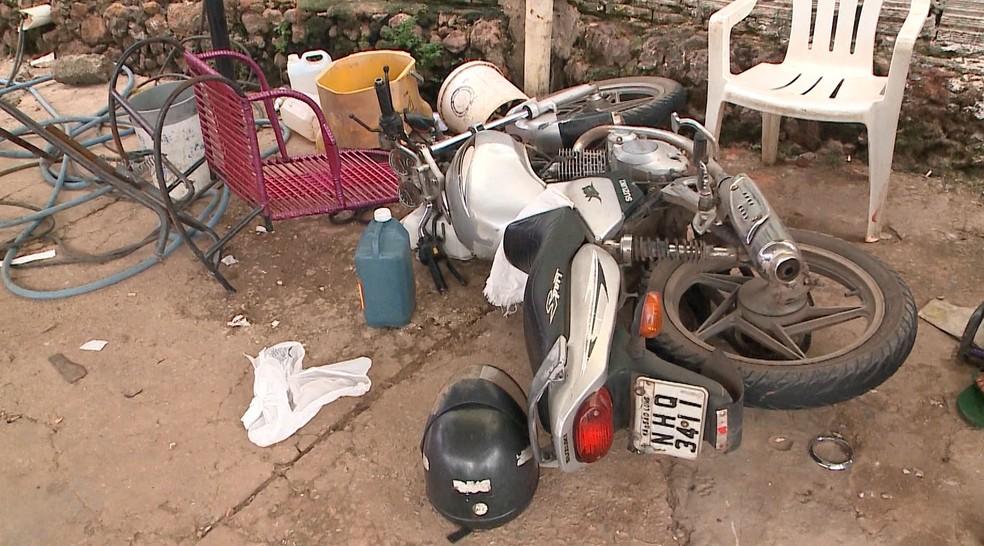 Lourival Neto Santos Diniz estava pilotando uma motocicleta quando foi atingido por um veículo em São Luís — Foto: Reprodução/TV Mitante