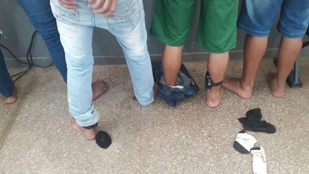 Todos os detidos têm passagem por outros crimes — Foto: Polícia Militar - MT