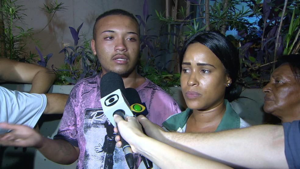Moisés Faria da Silva dos Santos foi confundido com assaltante e levado para delegacia. O jovem foi liberado em seguida. (Foto: Reprodução / Tv Globo)