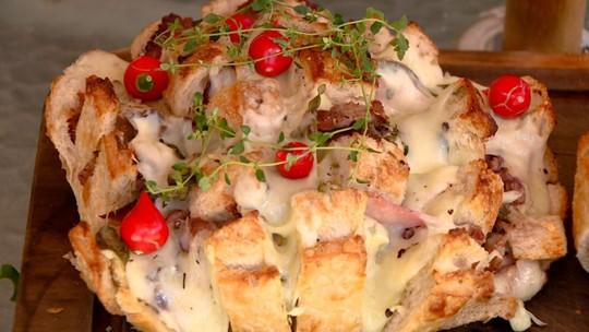 Criatividade na cozinha: pão italiano recheado é dica de aperitivo