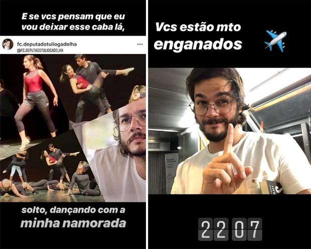 Publicações de Túlio Gadêlha (Foto: Reprodução/Instagram)