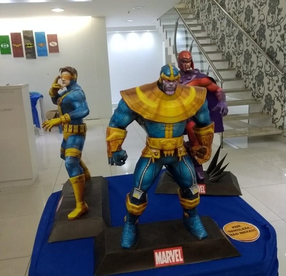 Super-heróis e outros personagens vão compor exposição (Foto: Divulgação/Sesc)