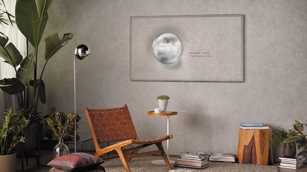Televisão que imita texturas da parede é novidade da Samsung (Foto: Divulgação)