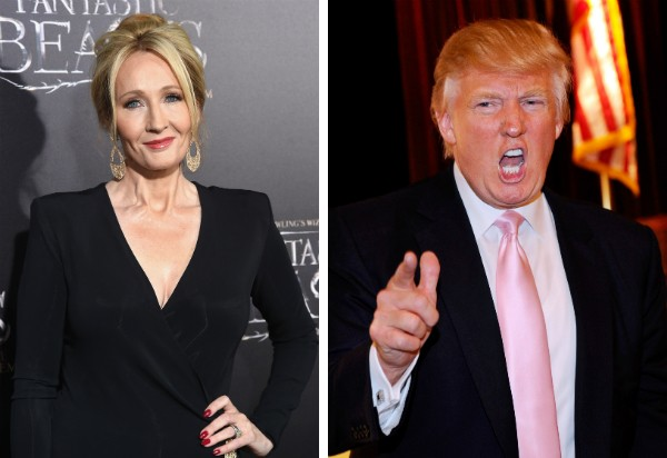 J.K. Rowling e Donald Trump (Foto: Getty Images)