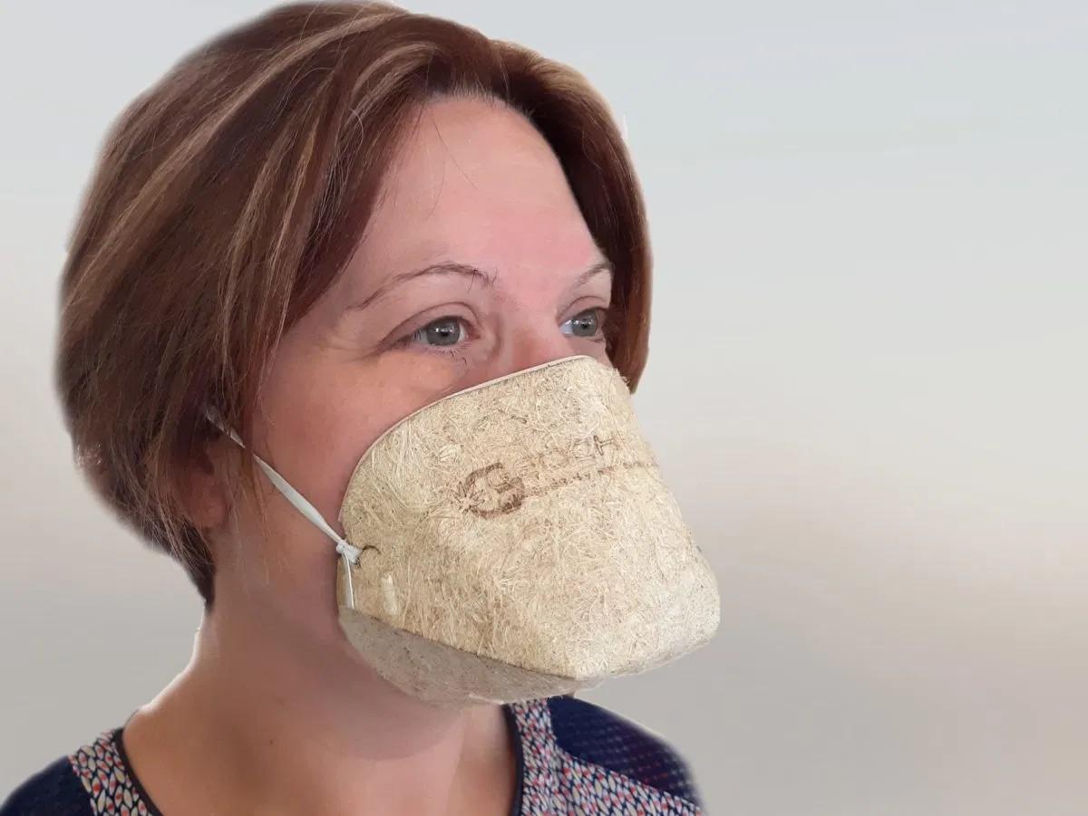 Máscara de cânhamo (Foto: Divulgação)