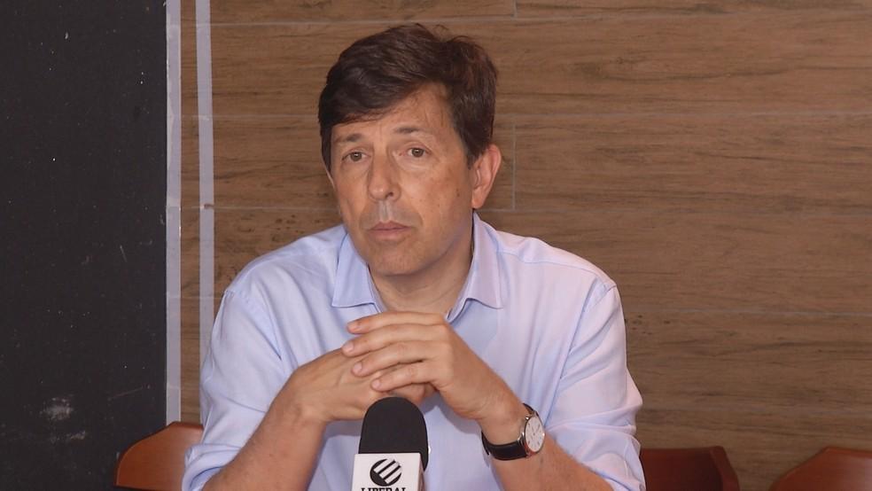 -  João Amoêdo cumpre agenda de campanha em Belém e critica impossibilidade de trabalhador vender 100% das férias.  Foto: Reprodução / TV Liberal