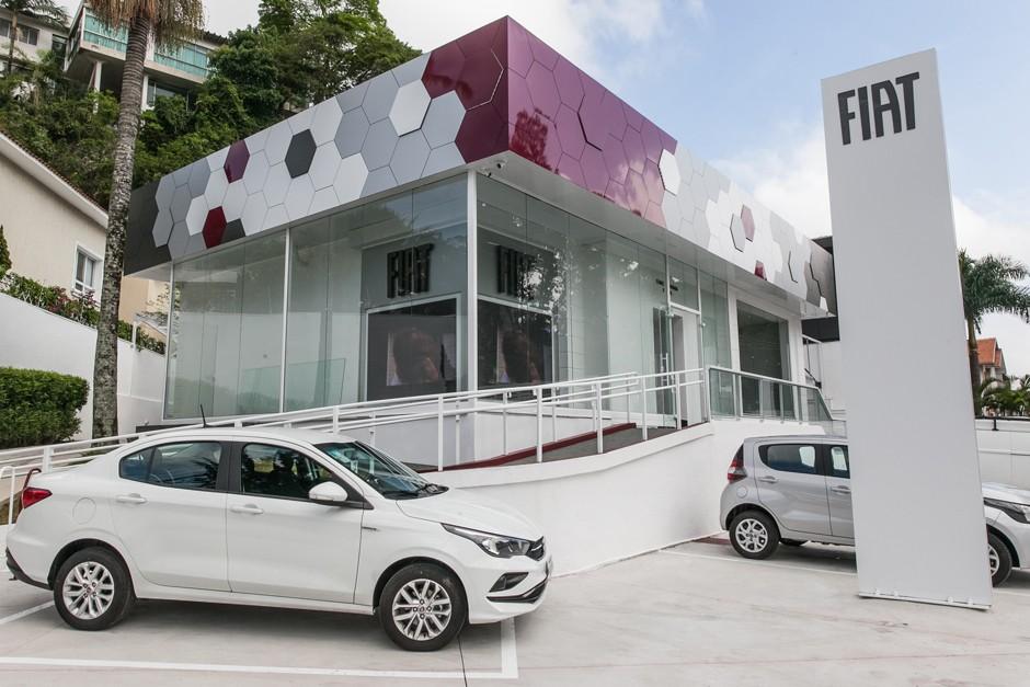 Nova loja da Fiat aposta em uma experiência digital com o visitante (Foto: Fiat)